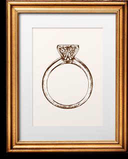 Ein Ring in einem Bilderrahmen