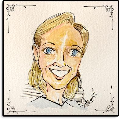 Karikatur von Eva des ACA Teams